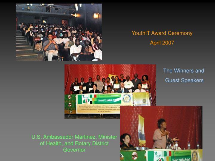 YouthIT Award Ceremony
