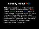 farebn model r g b