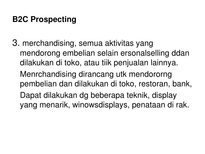 B2C Prospecting