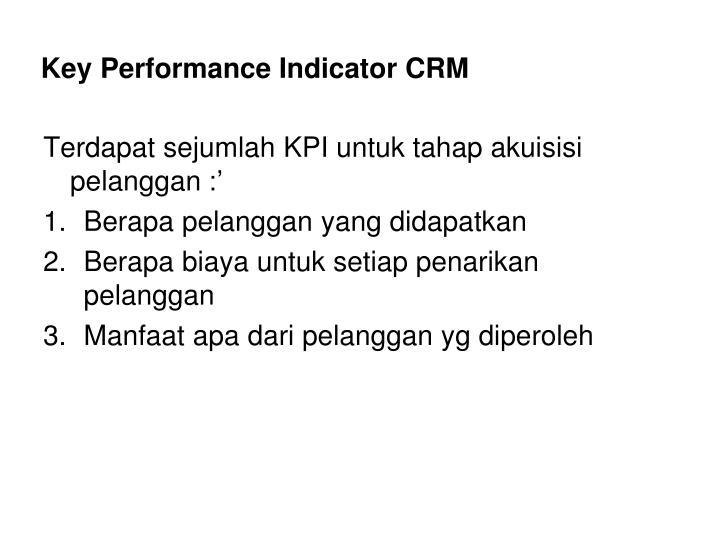 Key Performance Indicator CRM