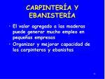 carpinter a y ebanister a