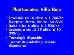 plantaciones villa rica