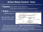 active noise control intro