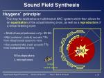 sound field synthesis1