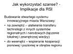 jak wykorzysta szanse implikacje dla rsi