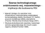 szanse technologicznego zr nicowania woj mazowieckiego implikacje dla budowania rsi1