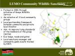 lumo community wildlife sanctuary