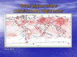 other places where costal cooling might occur