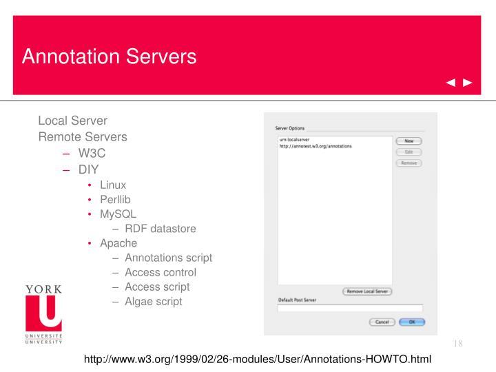 Annotation Servers