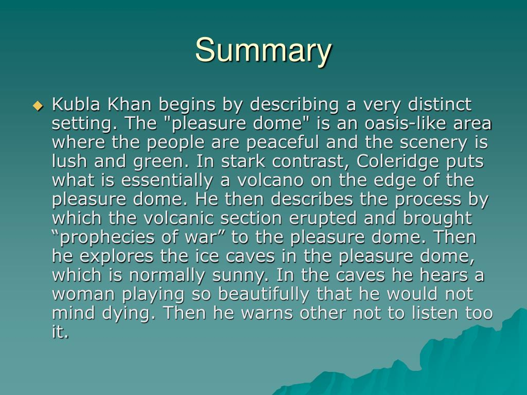 Ppt Kubla Khan Samuel Taylor Coleridge Powerpoint Presentation Free Download Id 4229273 Theme