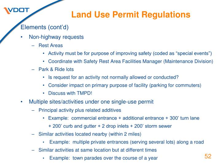 Land Use Permit Regulations