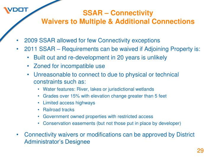 SSAR – Connectivity
