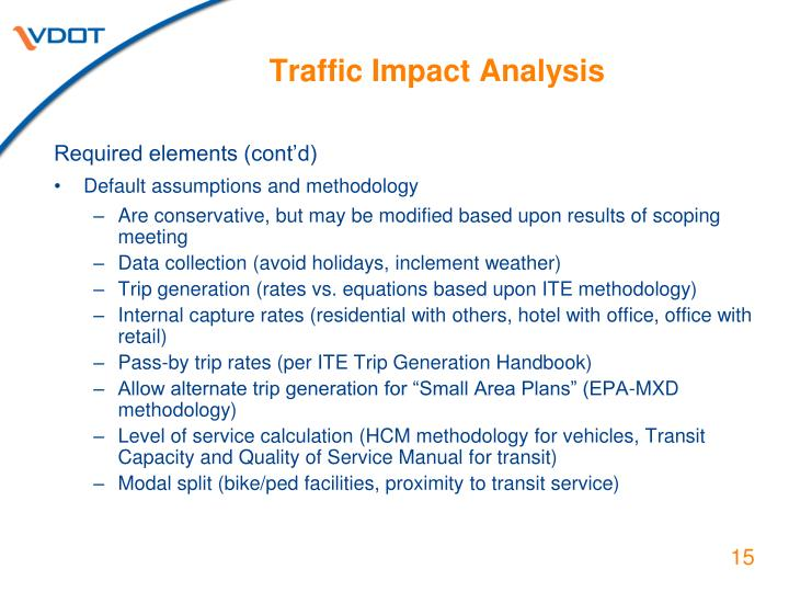 Traffic Impact Analysis