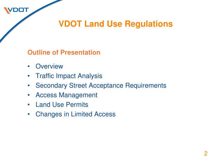 Vdot land use regulations1