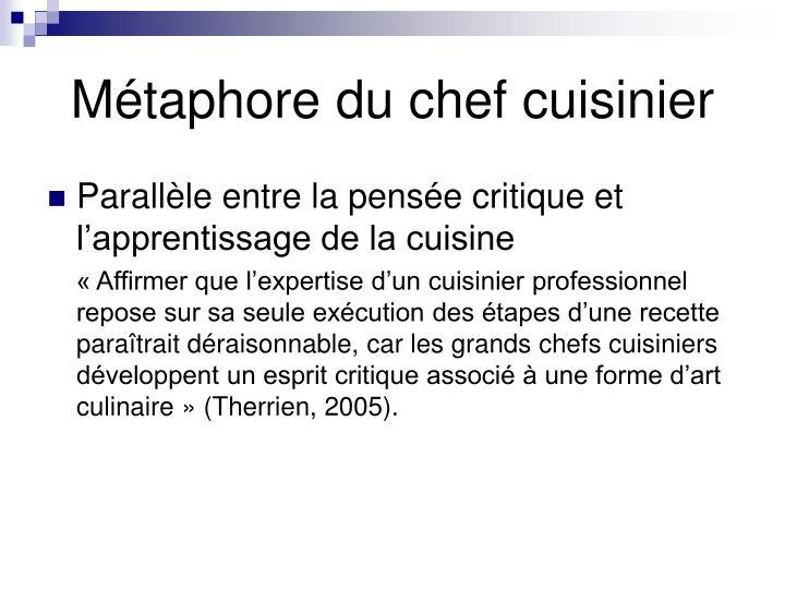 Métaphore du chef cuisinier