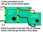 a time controlled circuit set up the circuit shown below