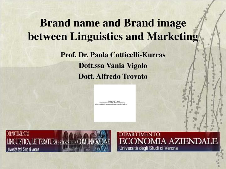 brand name and brand image between linguistics and marketing n.