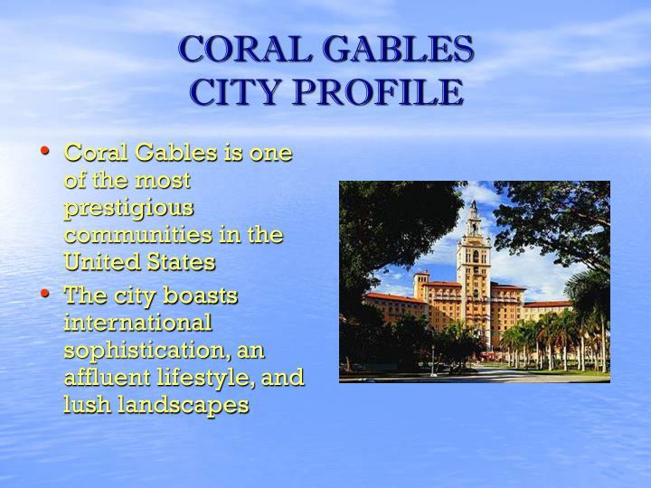 Coral gables city profile