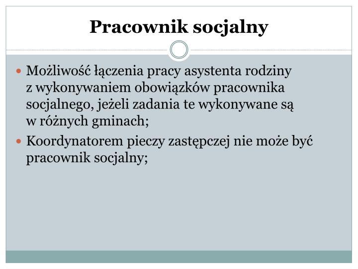 Pracownik socjalny