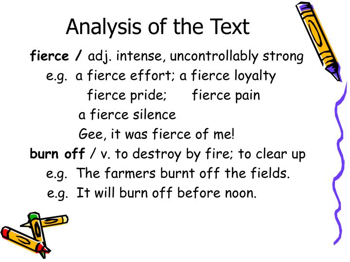 Analysis of the Text