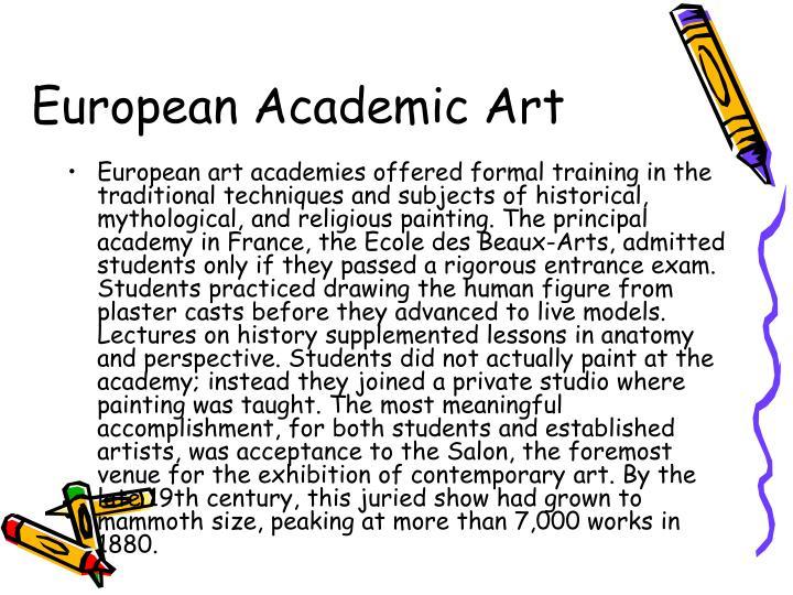 European Academic Art