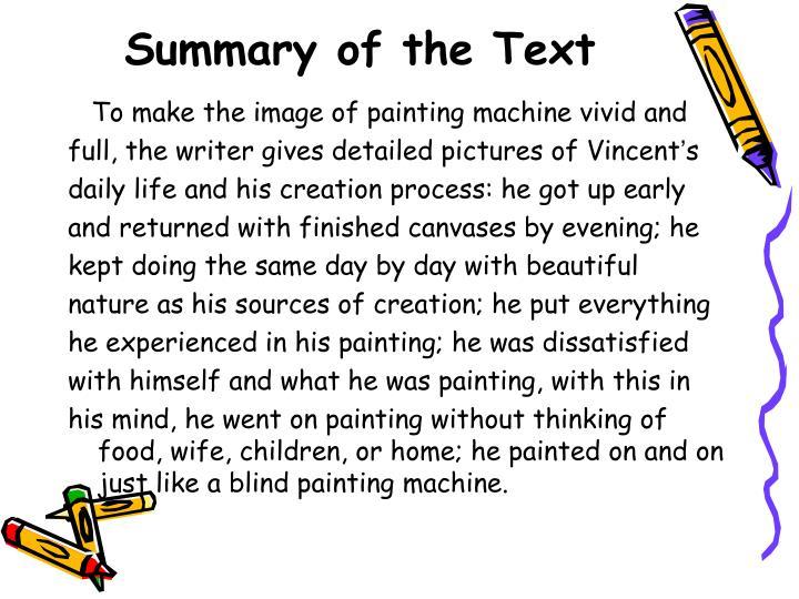 Summary of the Text
