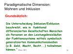 paradigmatische dimension wohnen und inklusion1