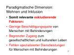 paradigmatische dimension wohnen und inklusion12