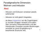 paradigmatische dimension wohnen und inklusion3