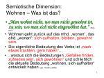 semiotische dimension wohnen was ist das