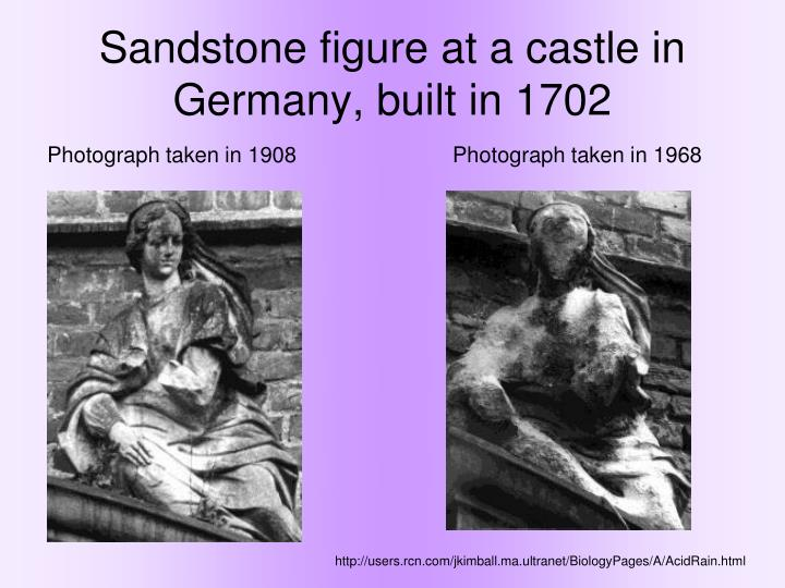Sandstone figure at a castle in Germany, built in 1702