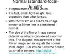 normal standard focal length