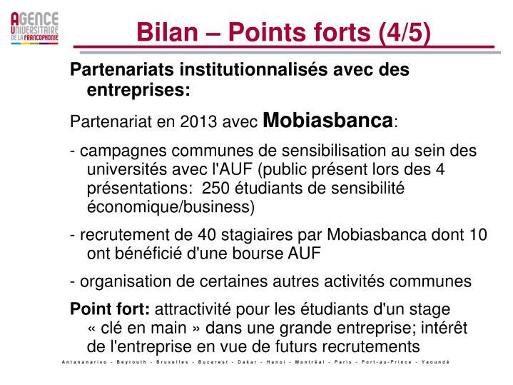 Bilan – Points forts (4/5)