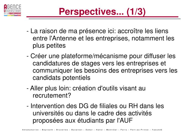 Perspectives... (1/3)
