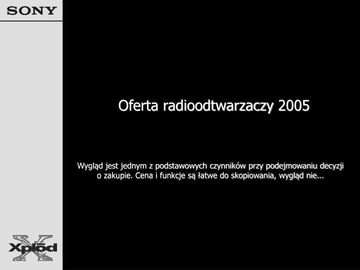 Oferta radioodtwarzaczy