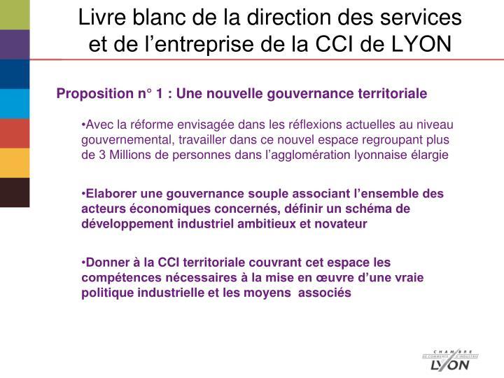 Livre blanc de la direction des services et de l'entreprise de la CCI de LYON