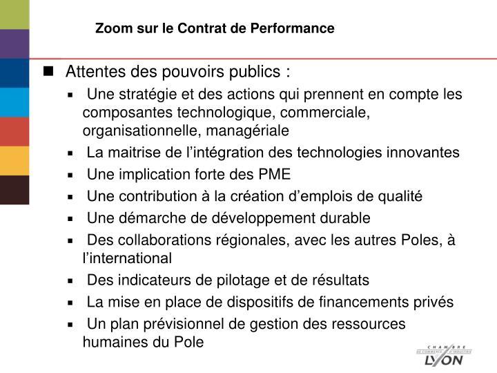 Zoom sur le Contrat de Performance