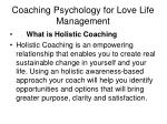 coaching psychology for love life management