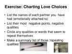 exercise charting love choices