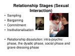 relationship stages sexual interaction