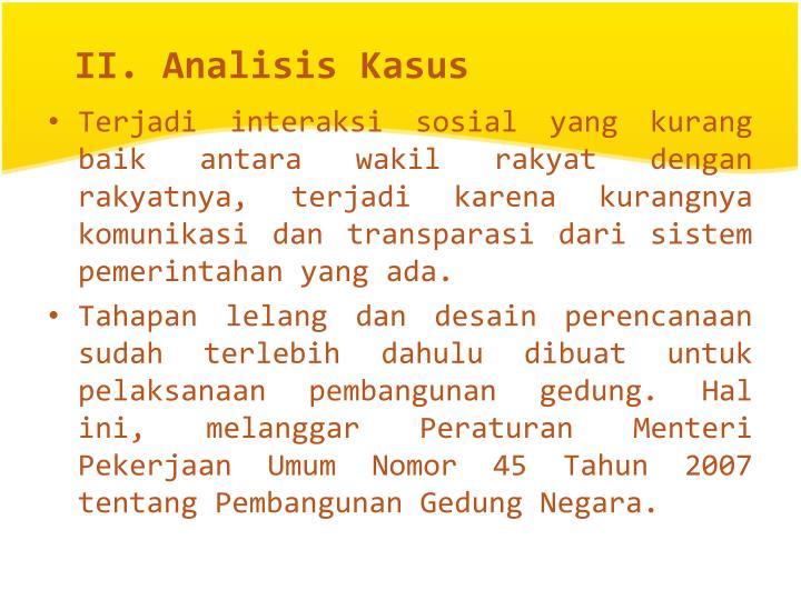 II. Analisis Kasus