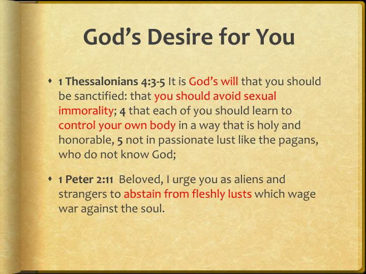 God s desire for you