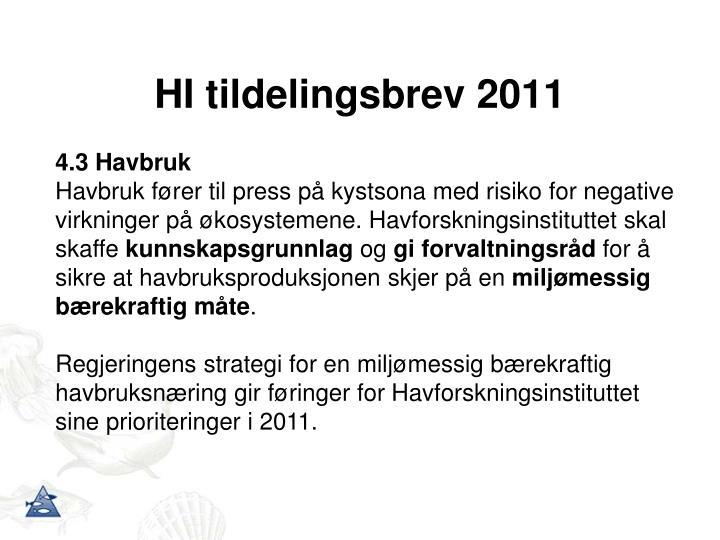 Hi tildelingsbrev 2011