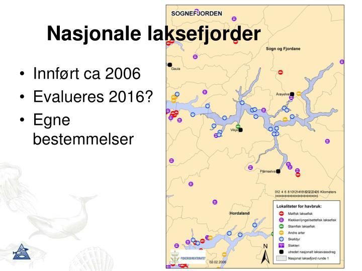 Nasjonale laksefjorder