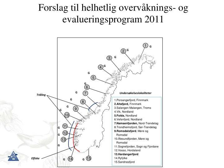 Forslag til helhetlig overvåknings- og evalueringsprogram 2011