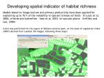developing spatial indicator of habitat richness