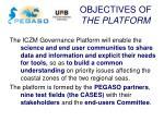 objectives of the platform