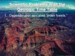 scientific problems with the geologic time table