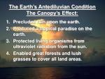 the earth s antediluvian condition the canopy s effect3