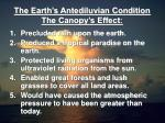 the earth s antediluvian condition the canopy s effect4